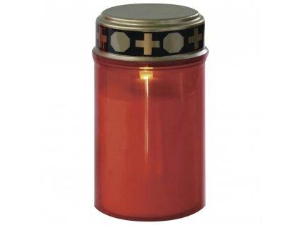 LED hřbitovní svíčka s časovačem | na 2× C | červená LED | DCCV19