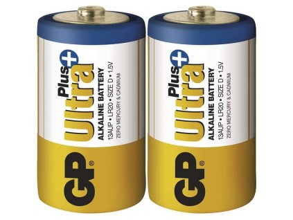 Monočlánková alkalická baterie D - GP Ultra Alkaline | B1940 | 2 kusy