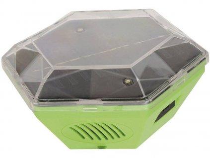 Plašič ptáků Gardigo Solar 360° | multifrekvenční | efektivní plocha 150 m2 | výstražné LED světlo