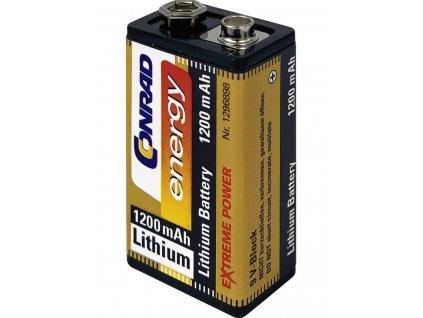 Lithiová baterie Conrad energy 9V | 1200 mAh