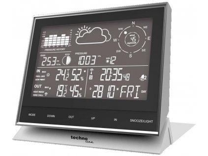 Digitální bezdrátová meteostanice Techno Line WS1700, Max. dosah 100 m, černý chrom