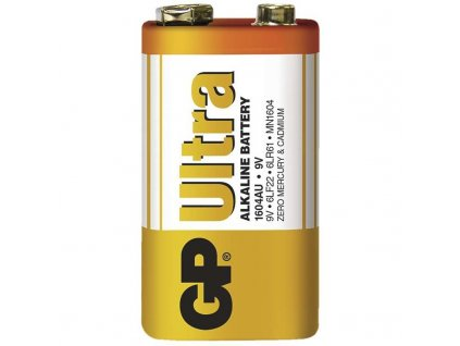 Destičková alkalická baterie 6LF22 (9V) - GP Ultra Alkaline | B1950 | 1 kus