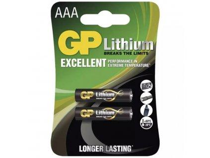 Lithiová baterie GP AAA (FR03)   1,5 V   mikrotužka   2 kusy   B15112