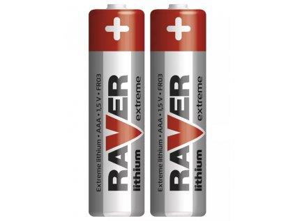 Lithiová baterie RAVER AAA (FR03)   1,5 V   mikrotužka   2 kusy   B7811