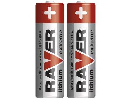 Lithiová baterie RAVER AA (FR6) | 1,5 V | tužková baterie | 2 kusy | B7821