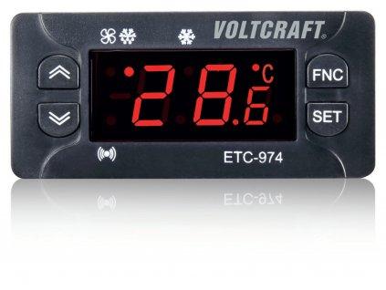 Termostat VOLTCRAFT ETC-974; typ senzoru NTC/PTC; -50 až 140 °C