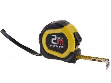 Svinovací metr FESTA 2 m | mechanická brzda | přídržný magnet | ocelový klip | 8044-10