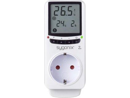 Pokojový termostat do zásuvky Sygonix MH-912, mezizásuvka, 5 až 35 °C