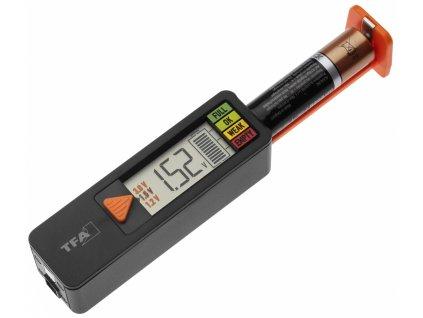 Univerzální tester baterií AA, AAA, C, D, 9V, knoflíkové - BatteryCheck | TFA 98.1126.01