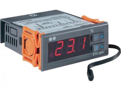Panelový termostat Voltcraft ETC-200+   2 relé   teplotní rozsah -40 do 120°C