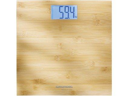 Digitální osobní váha Grundig PS4110   až 180 kg   bambusová