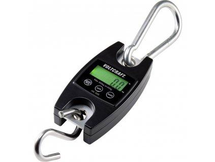 Digitální závěsná váha VOLTCRAFT HS-300 | mincíř | váživost 300 kg | rozlišení 200 g | černá