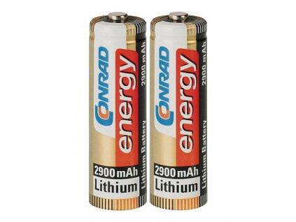 Lithiová baterie velikosti AA - 1,5 V - 2900 mAh; 2 kusy