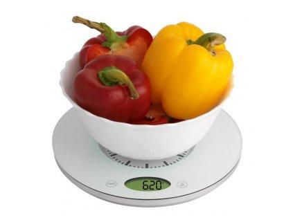 Kuchyňská váha s quartz hodinami TFA 60.3002