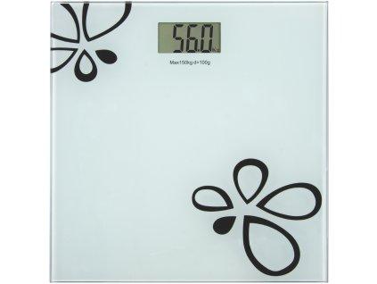 Digitální osobní váha skleněná bílá, EMOS TY6108 - 180kg 100g