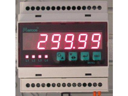 Digitální ukazatel na DIN lištu s příslušenstvím pro analogové signály