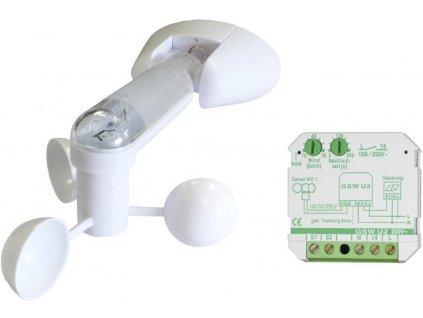 Senzor větru (anemometr) s nastavitelným relé do krabice