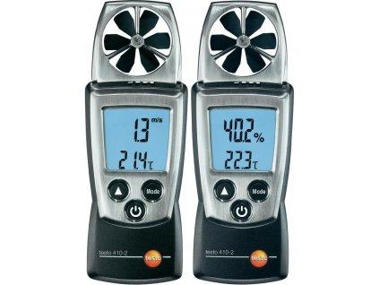 Anemometr + měření teploty a vlhkosti, testo 410-2