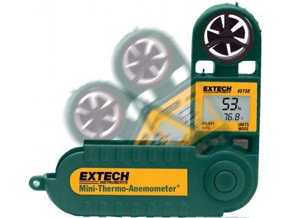 Anemometr 0,5 až 28 m/s; měření teploty a vlhkosti vzduchu EXTECH 45158