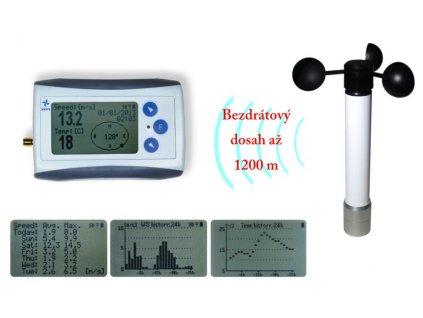 Bezdrátový měřič rychlosti větru s dlouhým dosahem WL11-WS
