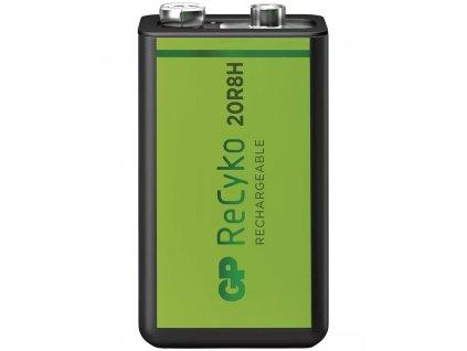 Nabíjecí baterie GP Recyko+ 6F22 (9V), 200 mAh, krabička   B2152
