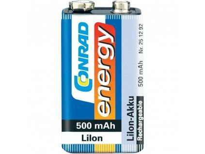 Akumulátor Conrad energy 9 V, Li-Ion, 500 mAh