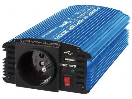 Měnič napětí 12V/230V, 300W, CARBOOST 300, N0036