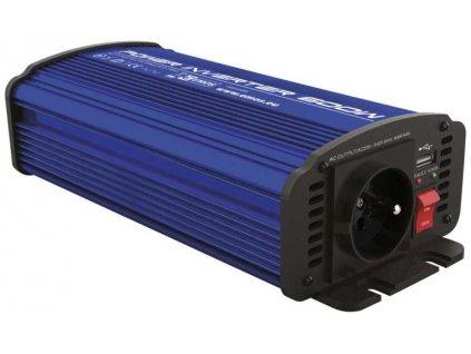 Měnič napětí 12V/230V, 600W, USB 2100 mA, N0037