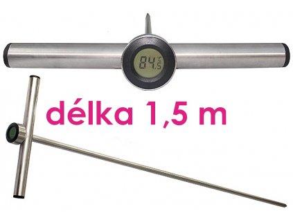 Digitální tyčový teploměr Agreto 1,5 m do sena, slámy, obilí, kompostu, štěpky
