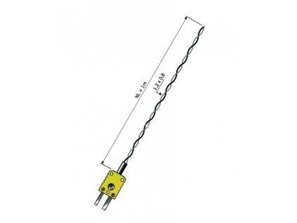 Miniaturní termočlánek typu K od -50 do +260 C