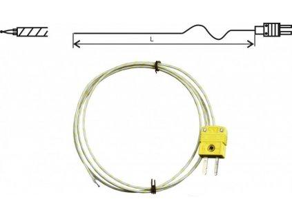 GD700-1 termočlánková drátová sonda K, délka 1m