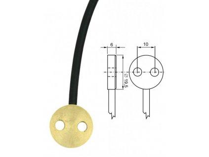 Mosazné čidlo -30 až +200 C - Pt1000TG7/E - délka 1 m