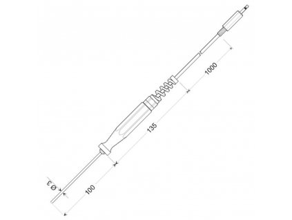 Greisinger GTF 175 | Pt1000 | Ponorné teplotní čidlo pro kapaliny a plyny