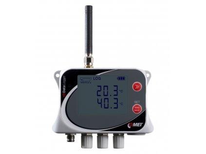U0141M | Datalogger teploty pro čtyři externí sondy s GSM modemem
