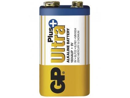 Destičková alkalická baterie 6LF22 (9V) - GP Ultra Plus Alkaline | B1751 | 1 kus