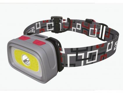 LED čelovka Emos E1801, na 3x AAA, 1x COB + 1x CREE LED   P3531