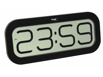 Rádiem řízené nástěnné hodiny TFA 60.4514.01 BimBam, černé