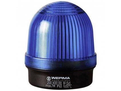 Optická signalizace Werma Signaltechnik 200.500.00 | IP65 | Modrá | Trvalé světlo | 12-240 V AC/DC