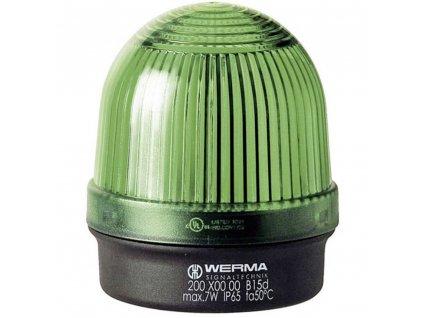 Optická signalizace Werma Signaltechnik 200.200.00 | IP65 | Zelená | Trvalé světlo | 12-240 V AC/DC