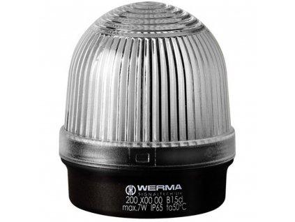 Optická signalizace Werma Signaltechnik 200.400.00   IP65   Bílá   Trvalé světlo   12-240 V AC/DC
