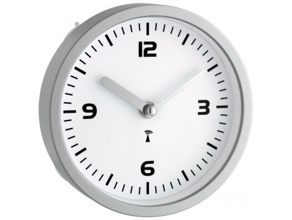 Koupelnové nástěnné hodiny řízené DCF, TFA 60.3502, průměr 160 mm