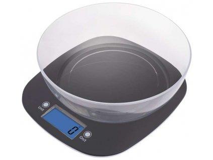 Digitální kuchyňská váha EMOS EV025   váživost do 5 kg/1g   černá