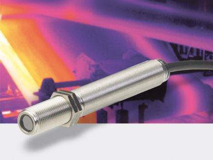 Miniaturní infračervený teploměr do 1030°C | optika 15:1 | výstup 0..10 V | kabel 1 m