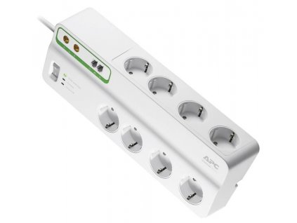 Zásuvková lišta s přepěťovou ochranou APC by Schneider Electric PMF83VT-GR, 3.00 m, bílá, 8 zásuvek
