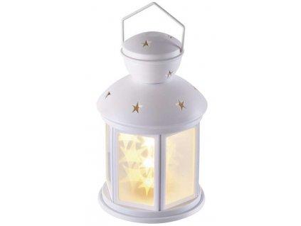 LED dekorace – lucerna s hvězdami, 3xAA, studená b., časovač   ZY2113