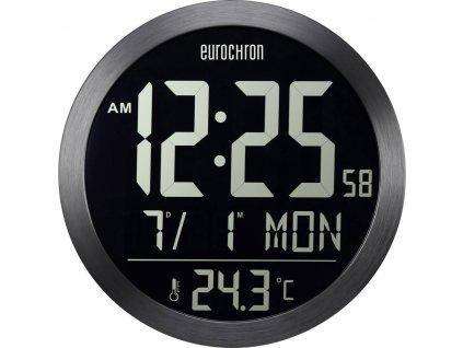 DCF nástěnné hodiny Eurochron EFW 5000, vnější Ø 394 mm, černá
