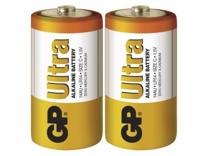 Monočlánková alkalická baterie C - GP Ultra Alkaline | B1930 | 2 kusy