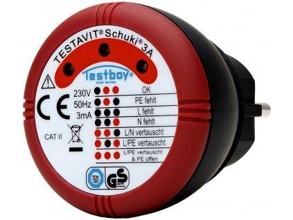 Tester zásuvek Testboy Schuki® 3A 230 V/AC