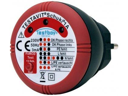 Tester zásuvek Testboy Schuki® 1A 230 V/AC
