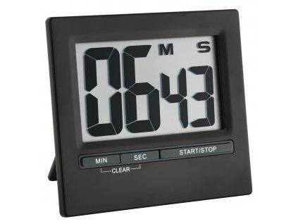 Digitální časovač - timer s magnetem TFA 38.2013.01, černá